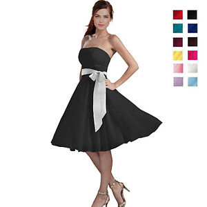 7dd7b7091a76 Image is loading Sexy-A-Line-Strapless-Chiffon-Formal-Bridesmaid-Cocktail-