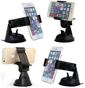 Universel-360-Rotation-Voiture-TelePhone-Portable-Support-De-Pare-brise-Noir