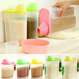 Kueche-Lebensmittel-Getreide-Bohnen-Reis-Aufbewahrungsbox-Container-Box-Dispenser