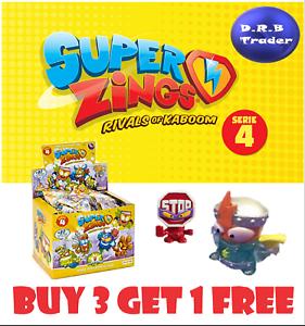 Superzings Serie 4 Kid Kazoom Oro Argento Scegliere il Tuo Danger Gang Blaster
