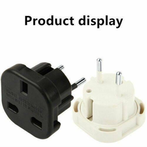 Travel Adaptor UK to EU Pin Convert Power European Plug Converter Euro Charger @
