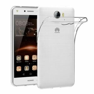 new styles cf0a3 f2410 Details about Soft Ultra Gel Clear TPU Transparent Case Cover For Huawei Y6  Elite / Y5ii 2