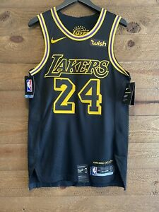 Kobe Bryant #24 Lakers City Edition Lore Series BLACK MAMBA! NWT ...