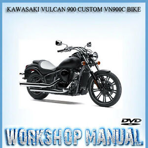 kawasaki vulcan 900 custom vn900c bike workshop repair service rh ebay com au 2007 kawasaki vulcan 900 owners manual kawasaki vulcan 900 custom owners manual