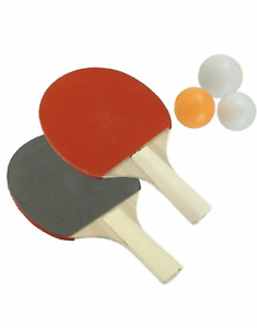 NEW 2 PLAYER TABLE TENNIS PING PONG SET INCLUDES 3 BALLS ADULTS KIDS GAME UK