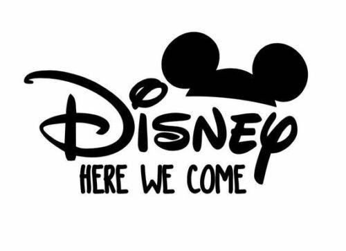 Disney Here we Come Stencil A4//A5//A6