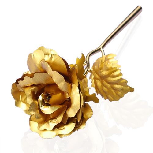 Goldene Gold Rose 24K Gold vergoldet Valentinstag Geburtstag Muttertag Geschenk