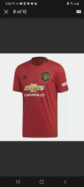 adidas Manchester United Home Jersey 2019/2020 Size Small Ed7386 ...