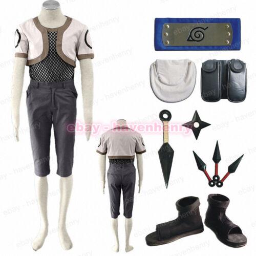 Nara Shikamaru Cosplay Costume Ninja Headband Kunaki Shoes Packet Whole Set