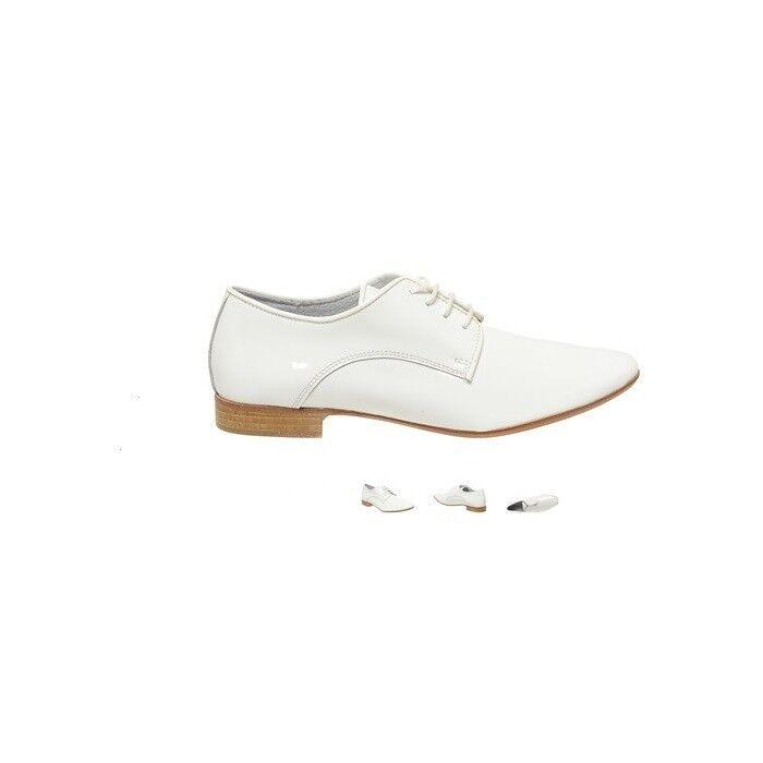 Lo último en tendencia tendencia tendencia 2018 nuevo Francés blancoo Charol Cuero Calado Con Cordones Zapatos Talla 5  punto de venta barato