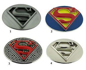 4458fcb4b9d Superman Boucle Ceinture Bd Américain Super Héros Argent Métal ...