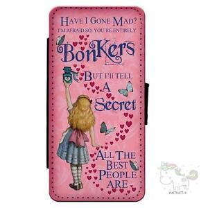 Alice-in-Wonderland-iPhone-Mad-Hatter-Flip-Case-Wallet-Mobile-Phone-Cover-AP02