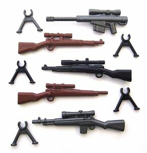 BrickArms SNIPER PACK 5 Guns + Bipods Weapons for Lego Minifigures Military NEW