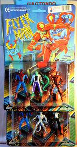 FLYER-MAN-Uomo-Ragno-Spiderman-apocrifo-e-nemici-2-confezioni-nuove-anni-039-90