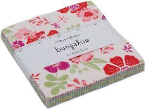 Bungalow-Moda-Charm-Pack-42-100-Cotton-5-034-Precut-Fabric-Quilt-Squares