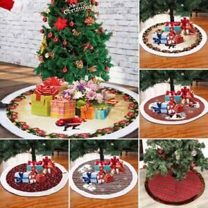 120cm-Navidad-Arbol-Falda-Copos-de-Nieve-Escenas-de-Bordado-Navidad-Piso-Decor