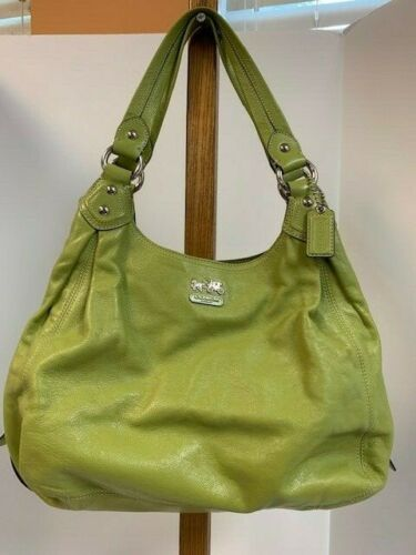Ladies Coach Lime Green Tote Handbag