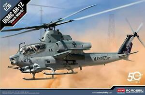 Academy-12127-1-35-Scale-US-Marine-Corps-AH-1Z-Shark-Mouth-Helicopter-Kit-Toy