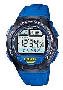 Casio-W-734-2A-Orologio-Uomo-Batteria-10-anni-Contapassi-Crono-Memoria-Lap