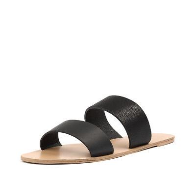 New Billini Cuban Black Pebble Smooth Womens Shoes Casual Sandals Sandals Flat