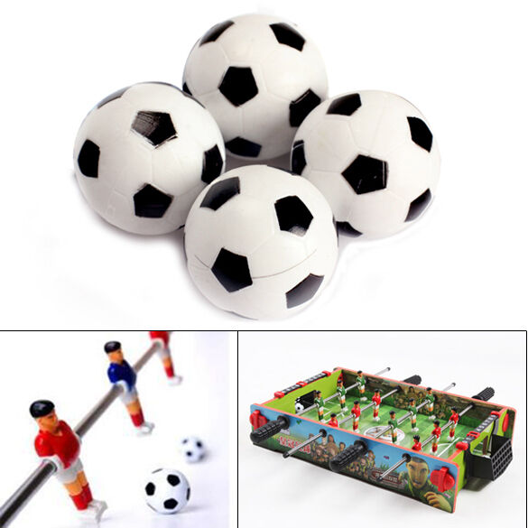 4pcs 32mm Fußball Tisch Foosball Ball Fußball für Unterhaltung AB