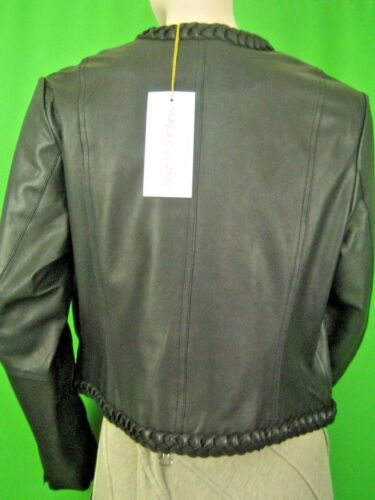 Jacket Front Margaret New Zip Leather Black 12p Godfrey Lined 1q1x0TB