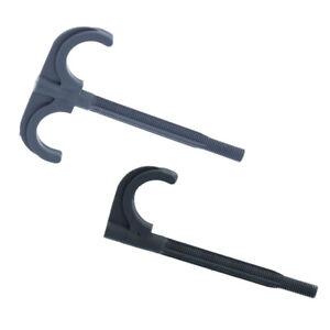 Rohrhalter-Einhaken-Duebelhaken-PEX-Rohr-Fussbodenheizung-fi-8-grau-Haken-50-Stueck