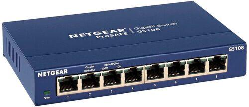 GS108-400NAS NETGEAR ProSAFE GS108 8-Port Gigabit Desktop Switch