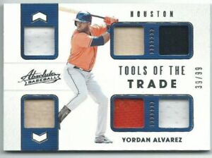 Yordan-Alvarez-Astros-2020-Panini-Absolute-Tools-Of-The-Trade-6-Swatch-Card-99