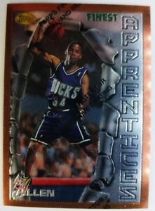1996-96-TOPPS-FINEST-Ray-Allen-ROOKIE-RC-22-W-Peel-Bucks-HOF