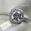 Genuine-Swarovski-Crystal-18k-White-Gold-Plated-Ring-Size-5-6-7-8-9-K-M-N-P-Q-S thumbnail 1