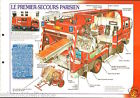 Fire engine Engins Premier-Secours Delahaye 112 Paris FICHE Pompier FIREFIGHTER