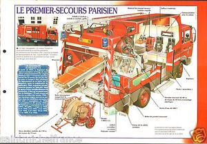 Fire-engine-Engins-Premier-Secours-Delahaye-112-Paris-FICHE-Pompier-FIREFIGHTER