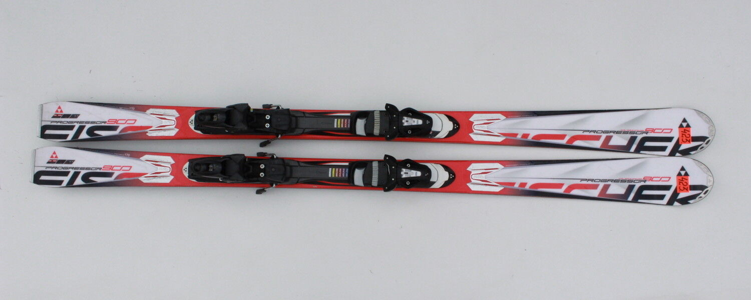 FISCHER PROGRESSOR 900 170 CM SKIS  SKI + FISCHER XTR 10  N423  official authorization