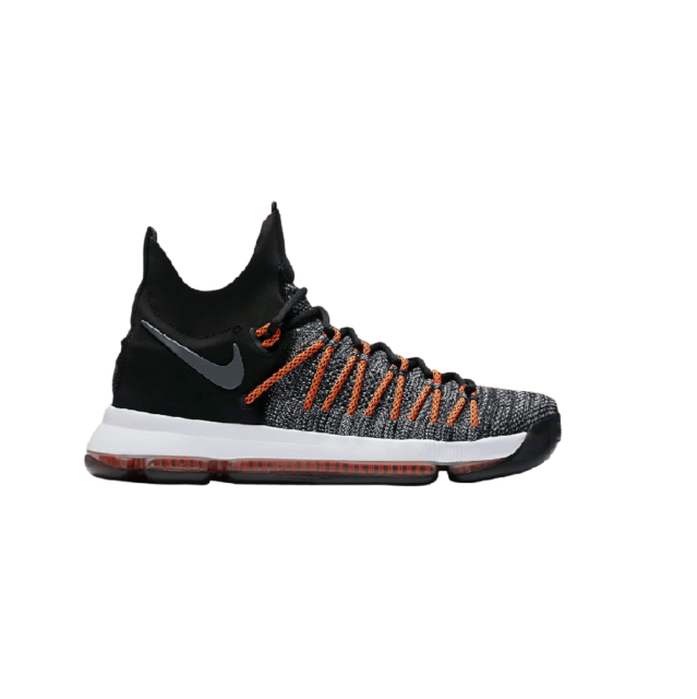 the best attitude 197ea 7615d Nike KD 9 Elite 878637-010 Black HYPER Orange Durant Basketball ...
