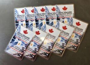 WOW!10 X CANADA GOLD!!  1/4 GRAIN 24k PUREGOLD 999 10 BARS FRACTIONAL GOLD