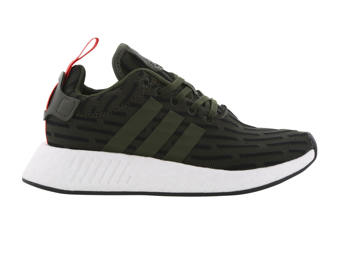 Mens ADIDAS NMD R2 Dark Green Running Trainers BY2500