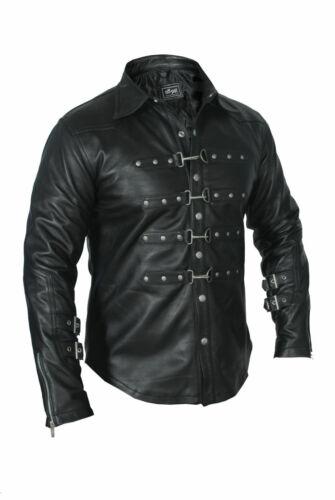 Real Leathers Mens Black PUNK ROCK GOTH Glaze Shirt BLUF