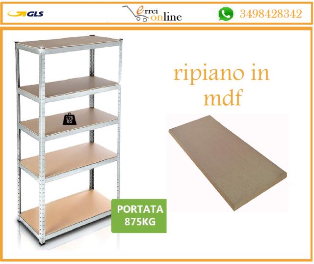 Scaffalature Di Metallo.Bricoshop24 Scaffali Di Metallo Con 5 Ripiani 90x40x180cm