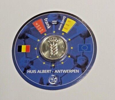 Convertisseur Euro Franc Belgique Maison Huis Albert Anvers Antwerpen + Médaille Elegant In Stijl