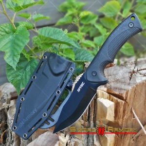 9-034-Fixed-Black-Blade-Tactical-Hunting-Knife-with-ABS-Belt-Loop-Holster-Sheath