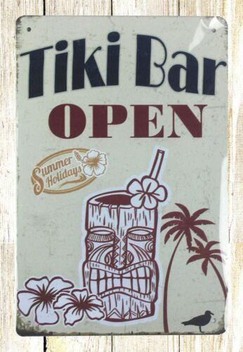 tiki bar open tin metal sign antique  signs sale