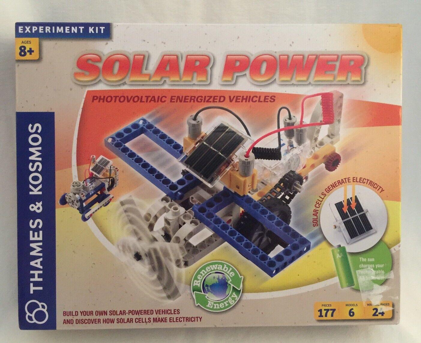 Thames & Kosmos Solar Power Vehicles Kit NEW Photovoltaic Energized