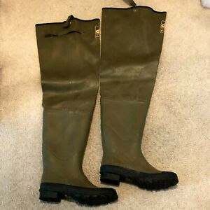 Pro Gear Fish America Hip Boots Green Waterproof Waders Men's Size 9 insulated