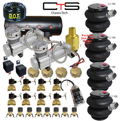 FORD Air Suspension Kit Bags Valves Tank Pswitch airline Compress Switch cross