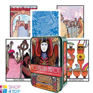 Details about AQUARIAN TAROT TIN BOX DECK CARDS DAVID PALLADINI ESOTERIC  TELLING NEW
