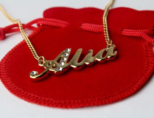 Eid AISHAALIAAMINAAMIRA Arabic Name Necklace /'A/' Personalised Gifts