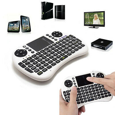 New 2.4GHz Multi-Media Wireless RC Keyboard Touchpad Handheld Mouse Excellent