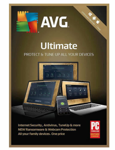 AVG Ultimate Unlimited Devices I 2 Years i Retail Key Card I 2019