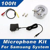 100ft Samsung Surveillance System Microphone Sdh-b74081, Sdh-c74041, Snk-d5081